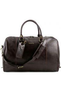 Σάκος Ταξιδίου Δερμάτινος TL Voyager Καφέ σκούρο Tuscany Leather