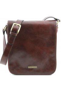 Ανδρικό Τσαντάκι Δερμάτινο Messenger TL141255 Καφέ Tuscany Leather