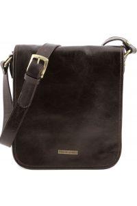 Ανδρικό Τσαντάκι Δερμάτινο Messenger TL141255 Καφέ σκούρο Tuscany Leather