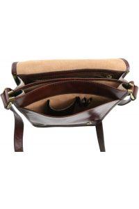 Ανδρικό Τσαντάκι Δερμάτινο Messenger TL141255 Μαύρο Tuscany Leather