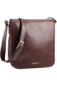 Ανδρικό Τσαντάκι Δερμάτινο Messenger TL141260 Μελί Tuscany Leather