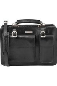 Γυναικεία Επαγγελματική Τσάντα Δερμάτινη Tania Μαύρο Tuscany Leather