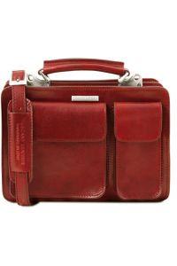 Γυναικεία Επαγγελματική Τσάντα Δερμάτινη Tania S TL141270 Κόκκινο Tuscany Leather