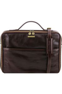 84dc5a9326 Τσάντα Laptop Δερμάτινη Vicenza Καφέ σκούρο Tuscany Leather