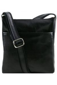 Ανδρικό Τσαντάκι Δερμάτινο Jason Μαύρο Tuscany Leather