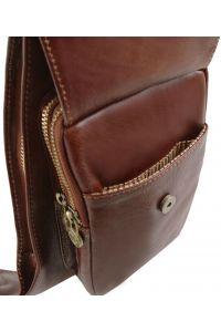 Ανδρικό Τσαντάκι Πλάτης Δερμάτινο TL141352 Μαύρο Tuscany Leather