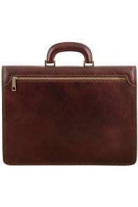 Ανδρική Επαγγελματική Τσάντα Δερμάτινη Amalfi Καφέ Tuscany Leather
