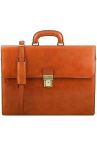 Επαγγελματική Τσάντα Δερμάτινη Parma Μελί Tuscany Leather