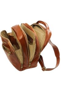 Τσάντα Πλάτης Δερμάτινη Phuket Καφέ Tuscany Leather