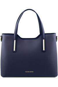 Γυναικεία Τσάντα Δερμάτινη Olimpia Μπλε σκούρο Tuscany Leather