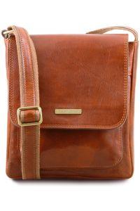 Ανδρικό Τσαντάκι Δερμάτινο Jimmy Μελί Tuscany Leather
