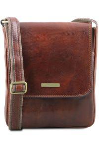 Ανδρικό Τσαντάκι Δερμάτινο John Καφέ Tuscany Leather
