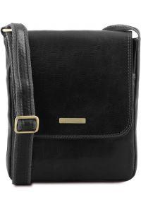 Ανδρικό Τσαντάκι Δερμάτινο John Μαύρο Tuscany Leather