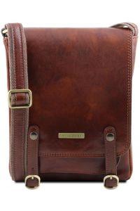 Ανδρικό Τσαντάκι Δερμάτινο Roby Καφέ Tuscany Leather