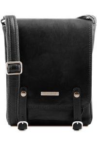 Ανδρικό Τσαντάκι Δερμάτινο Roby Μαύρο Tuscany Leather