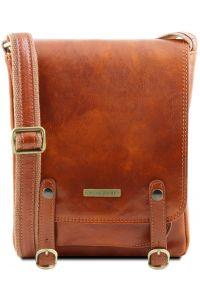 Ανδρικό Τσαντάκι Δερμάτινο Roby Μελί Tuscany Leather