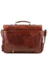 Επαγγελματική Τσάντα Δερμάτινη Ventimiglia με Smart Connect™ Καφέ Tuscany Leather