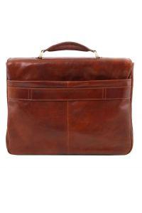 Επαγγελματική Τσάντα Δερμάτινη Alessandria με Smart Connect™ Καφέ Tuscany Leather