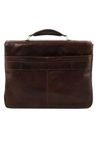 Επαγγελματική Τσάντα Δερμάτινη Alessandria με Smart Connect™ Καφέ σκούρο Tuscany Leather