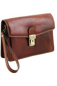 Ανδρικό Τσαντάκι Δερμάτινο Tommy Καφέ Tuscany Leather
