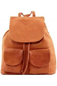 Γυναικεία Τσάντα Δερμάτινη Seoul L Κονιάκ Tuscany Leather