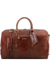 Σάκος ταξιδίου δερμάτινος TL Voyager - TL141401 Καφέ Tuscany Leather