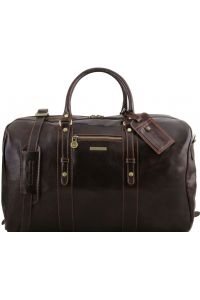 Σάκος ταξιδίου δερμάτινος TL Voyager - TL141401 Καφέ σκούρο Tuscany Leather