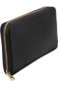 Πορτοφόλι - θήκη εγγράφων - TL141663 Μαύρο Tuscany Leather