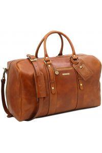 Σάκος ταξιδίου δερμάτινος TL Voyager - TL141401 Μαύρο Tuscany Leather