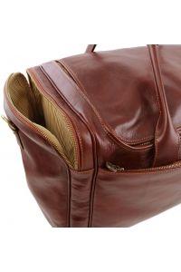 Σάκος ταξιδίου δερμάτινος Voyager TL141281 Καφέ Tuscany Leather