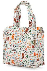 Τσάντα Shopping 24x21x11cm Animals Benzi BZ5281 Λευκό