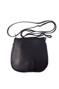 Δερμάτινο Τσαντάκι Ωμου Bibiana Firenze Leather B024 Μαύρο