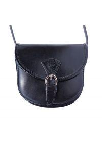 Δερματινο Τσαντακι Ωμου Adina Firenze Leather 224 Μαύρο