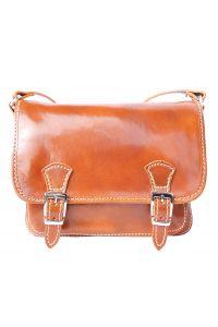 Δερματινη Τσαντα Ταχυδρομου Mini Firenze Leather 7619 Tan