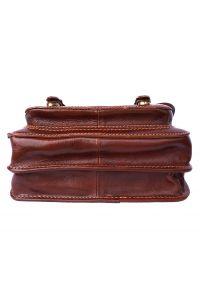 Δερματινη Τσαντα Ταχυδρομου Mini Firenze Leather 7619 Καφέ