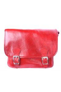 Δερματινη Τσαντα Ταχυδρομου Mini Firenze Leather 7619 Κόκκινο