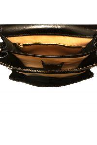 Δερματινη Τσαντα Ταχυδρομου Mini Firenze Leather 7619 Μαύρο