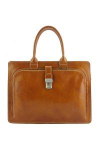 Δερματινος Χαρτοφυλακας Giacinto Firenze Leather 7635 Tan