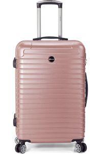 Βαλίτσα 69cm με 4 Διπλές Ρόδες Benzi BZ5332 Ροζ/Χρυσό