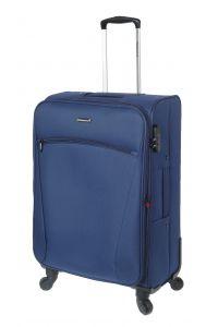 Βαλίτσα Μεσαία 66cm με Επέκταση & 4 Ρόδες Diplomat ZC614-61 Μπλε