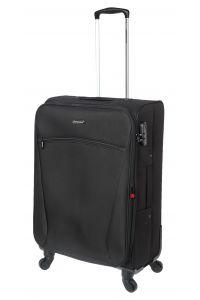 Βαλίτσα Μεσαία 66cm με Επέκταση & 4 Ρόδες Diplomat ZC614-61 Μαύρο