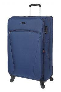 Βαλίτσα Μεγάλη 77cm με Επέκταση & 4 Ρόδες Diplomat ZC614-71 Μπλε