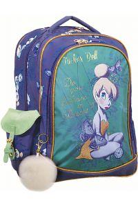 Τσάντα Δημοτικού Οβάλ Tinkerbell Glitter GIM 331-82031