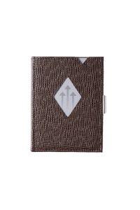 Πορτοφόλι Δερμάτινο Exentri Wallet 332 Καφέ Mosaic
