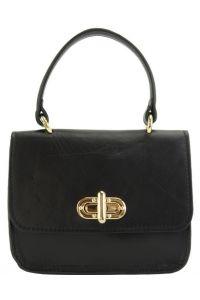 Δερμάτινη Τσάντα Χειρός Virginia Firenze Leather 8057 Μαύρο