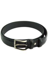 Δερμάτινη Ζώνη Croc Firenze Leather 3195 Μαύρο 35mm