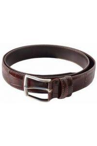 Δερμάτινη Ζώνη Croc Firenze Leather 3195 Σκούρο Καφέ 35mm