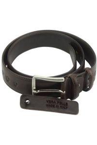 Δερμάτινη Ζώνη Merlo Firenze Leather 01335s Σκούρο Καφέ 35mm