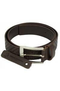 Δερμάτινη Ζώνη Ruggero Firenze Leather 050540 Σκούρο Καφέ 40mm
