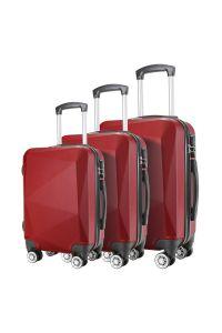 Σετ 3 Βαλίτσες ABS με 4 Ρόδες Showkoo HT3755/3 Μπορντό